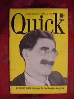 QUICK Pocket magazine May 22 1950 GROUCHO MARX
