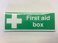 Bus Coach Office First Aid Sticker Self Adhesive Sign - 200 x 75 mm