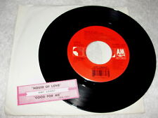 """Amy Grant """"House of Love / Good For Me"""" 45 RPM,7"""",1994 Pop, +Jukebox Title Strip"""
