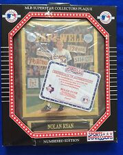 Nolan Ryan Texas Rangers 1994 farewell plaque #5386 (still in the box!)