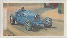 1920 Monaco Grand Prix Bugatti  Auto Race Vintage Trade  Ad Card