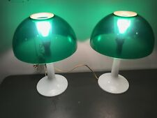 Pair Vintage 70s Retro Mid-Century Modern Gilbert Softlite Mushroom Table Lamp