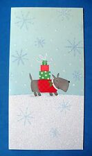 VINTAGE HALLMARK CHRISTMAS SCOTTIE DOG WITH GIFTS GREETING CARD MINT W/ENVELOPE
