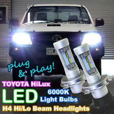 Pair of White H4 Hi/Lo LED Headlight Bulbs to suit TOYOTA Hilux SR SR5 4X4 4WD