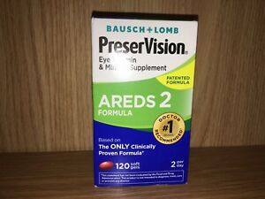 PreserVision Areds 2 120 Softgels Bausch + Lomb Eye Vitamin EXPIRE DEC2021 #7627