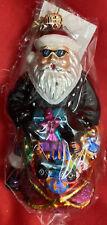 """Radko Ornament ~ 5"""" Petite Harley Davidson Santa  ~ NEW IN BOX"""