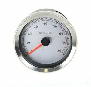 "4"" White Face Tachometer For Harley-Davidson 2004 And Later"