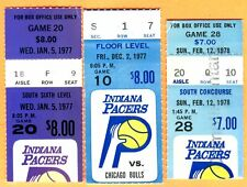 (3) 1977/78 CHICAGO BULLS/INDIANA PACERS BASKETBALL TICKET STUBS