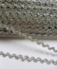 5MM Metallic Silver Ric Rac Trim / Tape / Ribbon-5 Yards-T838S