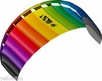 HQ Power Kite Symphony Beach III 2.2M Rainbow Ready to Fly Outdoor Package - NEW