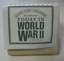 WWII Fifty Years ago. Vintage 1992 Desk Calendar; Back in Step in 2020
