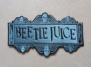 Vintage Beetlejuice Iron On Patch Embroidered Badge Lydia Tim Burton Horror