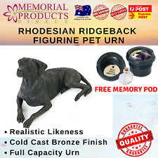 Rhodesian Ridgeback Urn Antique Bronze Figurine Cast Resin