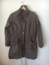Jacket Size 12 Brown Cotton Zipped Lined Denim Co <T14467