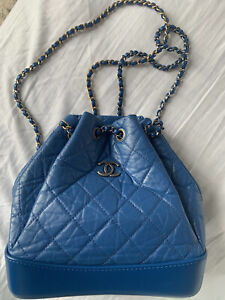 Chanel Gabrielle Backpack In Blue