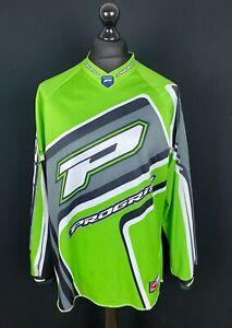Progrip Race Passion Men's Size XL Motocross Jersey Green BMX Racing Shirt