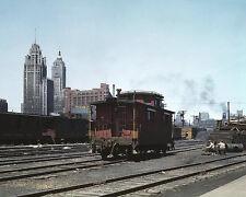 CHICAGO FREIGHT DEPOT 8X10 PHOTO DEPRESSION ERA 1943
