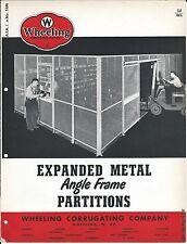 MRO Brochure - Wheeling Corrugating - Metal Partition Fence - c1952 (MR160)