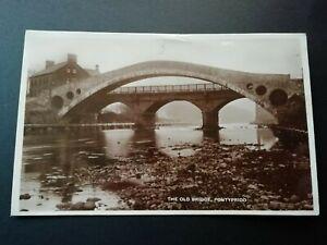 The Old Bridge, Pontypridd. RP. Posted 1937.