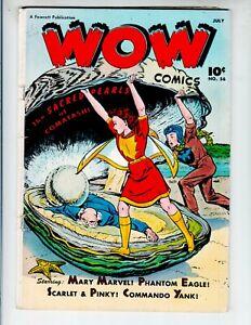 Wow Comics 56 GVG (3.0) 7/47 Fawcett! Mary Marvel! Phantom Eagle!