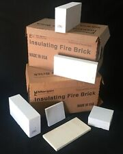 Insulating Firebrick 9x4.5x1.5 IFB 2500F Set of 6 Fire Brick