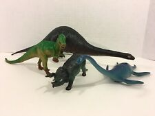 Lot of Vintage LARAMI Dinosaurs Tyrannosaurus Apatosaurus Triceratops Plesiosaur