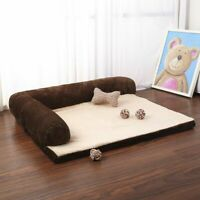 Luxury Large Dog Bed Sofa Dog Cat Pet Cushion Mat For Big Dogs L Shaped Chaise