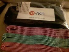 Te Rich Resistance Loop Exercise Bands - Set of 3
