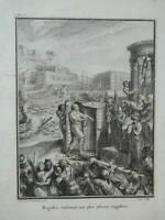 Engraving Regulus Boarded The Gruesome Torture Gabriel of St Aubin Chenu 1763