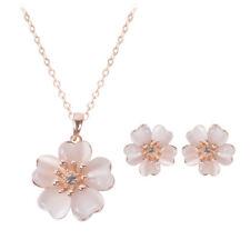 Fashion Stud Earrings Necklace Set Cute Flower Party Prom Jewelry Accessories DE