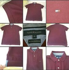 *Worn Once* Lovely Mens Polo Top T-Shirt▪TOMMY HILFIGER▪Plum~Size Medium~Casual