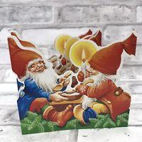Scandinavian Swedish Cut Out Fold Out decorations Artelius Tomte on Horse BK32