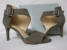 Jessica Simpson Size 8 M Marrionn Taupe Leather Open Toe Heels New Womens Shoes