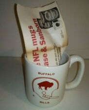 Vtg/Rare Chase & Sanborn NFL Buffalo Bills Promo Coffee Mug Early 70's Team Logo