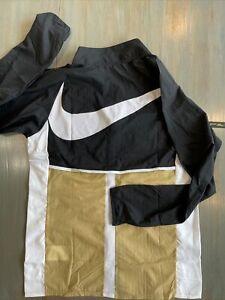 Nike Academy Full Zip Track Jacket LA Soccer Lightweight Men's M Black & Tan