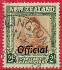 New Zealand 1947 2s OFFICIAL brown-orange & green sg 0158 pl I used
