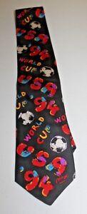 1994 World Cup USA Men's Neck Tie Silk Ralph Marlin World Cup Soccer Logo Tag