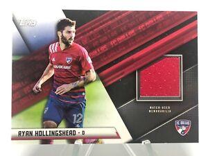 2021 Topps MLS Soccer Jersey Patch Relic JR-RH Ryan Hollingshead FC Dallas