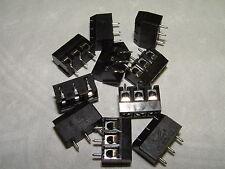 10 - 3 Salidas PCB Terminal De Tornillo Perfil Bajo 5mm Conector (501)