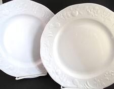 2 Apilco White Porcelain Embossed Fruit Salad Plates~9 Avail~Limoges France~API5