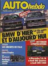 AUTO HEBDO n°496 du 7 Novembre 1985 GP AUSTRALIE BMW 635 CSI BMW 3.0 CSL