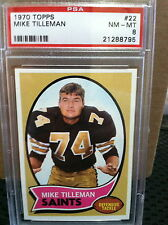 1970 Topps # 22 Mike Tilleman PSA NM/MT 8                              #8795