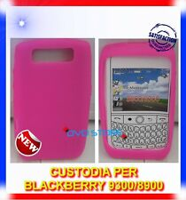 Custodia Cover Silicone HOT PINK per Blackberry 8900 9300