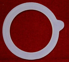 "Glass Jar Replacement Silicone Rubber Ring/Gasket Set  3.75"" outside"