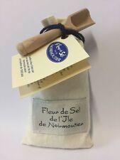 Fleur de Sel de l''Ile de Noirmoutier 125g Stoffsack mit Holzschaufel