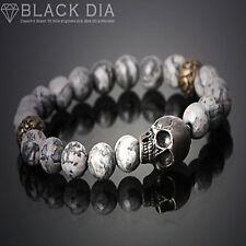 Guntwo Korean Mens Fashion Bracelets - Biker, Hip Hop Skull Bracelet B5245 US