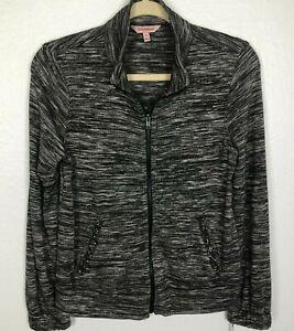 JUICY COUTURE Women's  Full Zip Jacket size XS Dark Gray Pockets RHINESTONES NWT