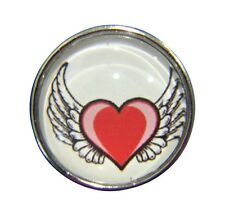 Noosa Style Chunks Ginger Snap On Jewellery Button Charms Angel Wings Heart 18mm