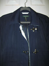 RALPH LAUREN Ladies Navy All Weather Jacket Windbreaker ~ SZ L Large ~ MINT!