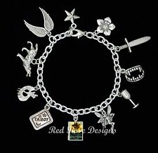 ~ THE MORTAL INSTRUMENTS BOOK LOCKET THEMED CHARM BRACELET~